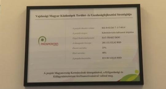 Embedded thumbnail for Átadták a Sat trakt Kft nagyberuházást (videó)
