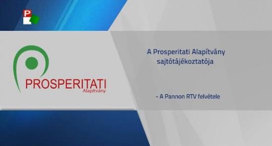 Embedded thumbnail for A Prosperitati Alapítvány sajtótájékoztatója